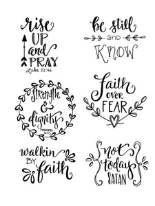 Faith Phrases Silkscreen