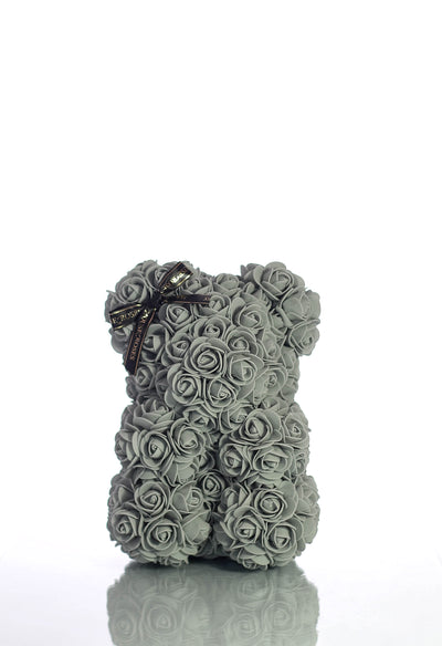 Grey Rose Bear (25cm)