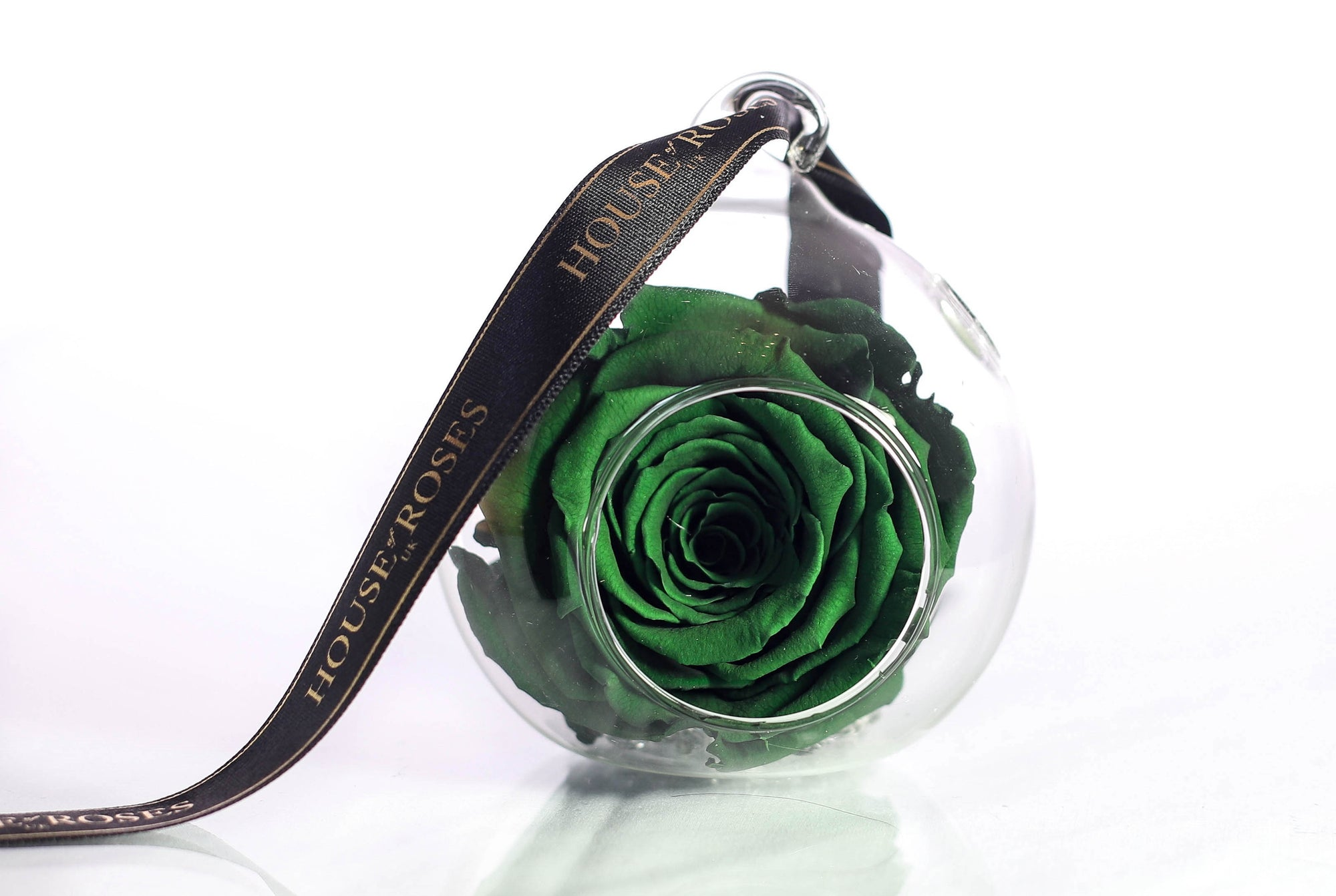 Green Eternal Rose In Globe