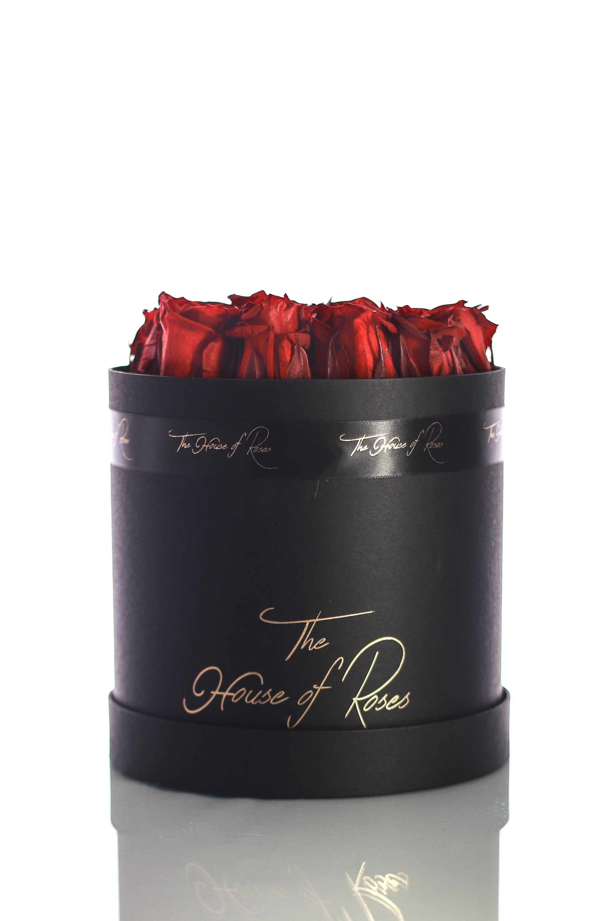 Eternal Rose Hatbox - Black - The House of Roses London