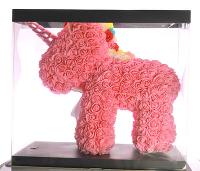 Pink Rose Unicorn Bear