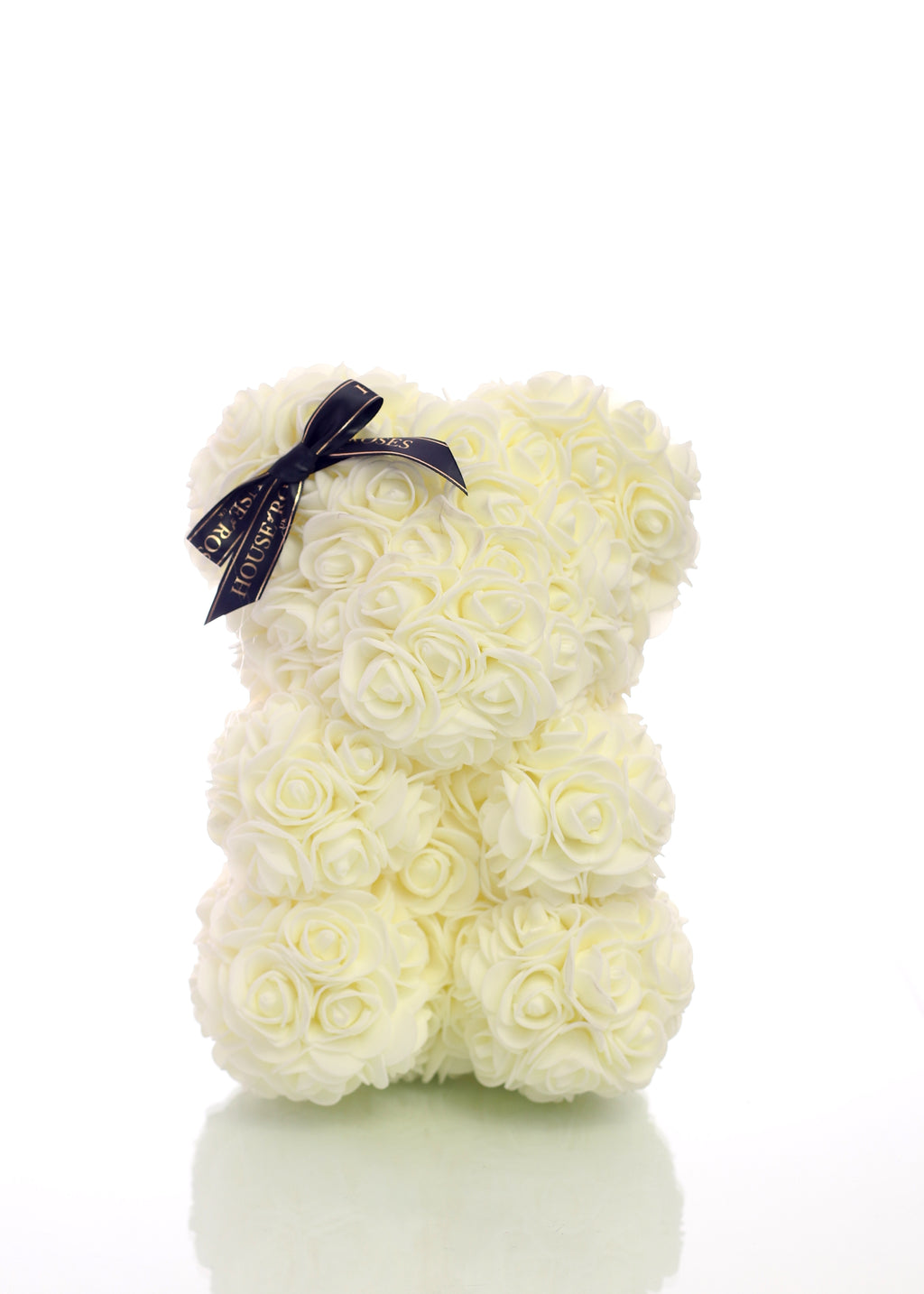 White Rose Bear (25cm)