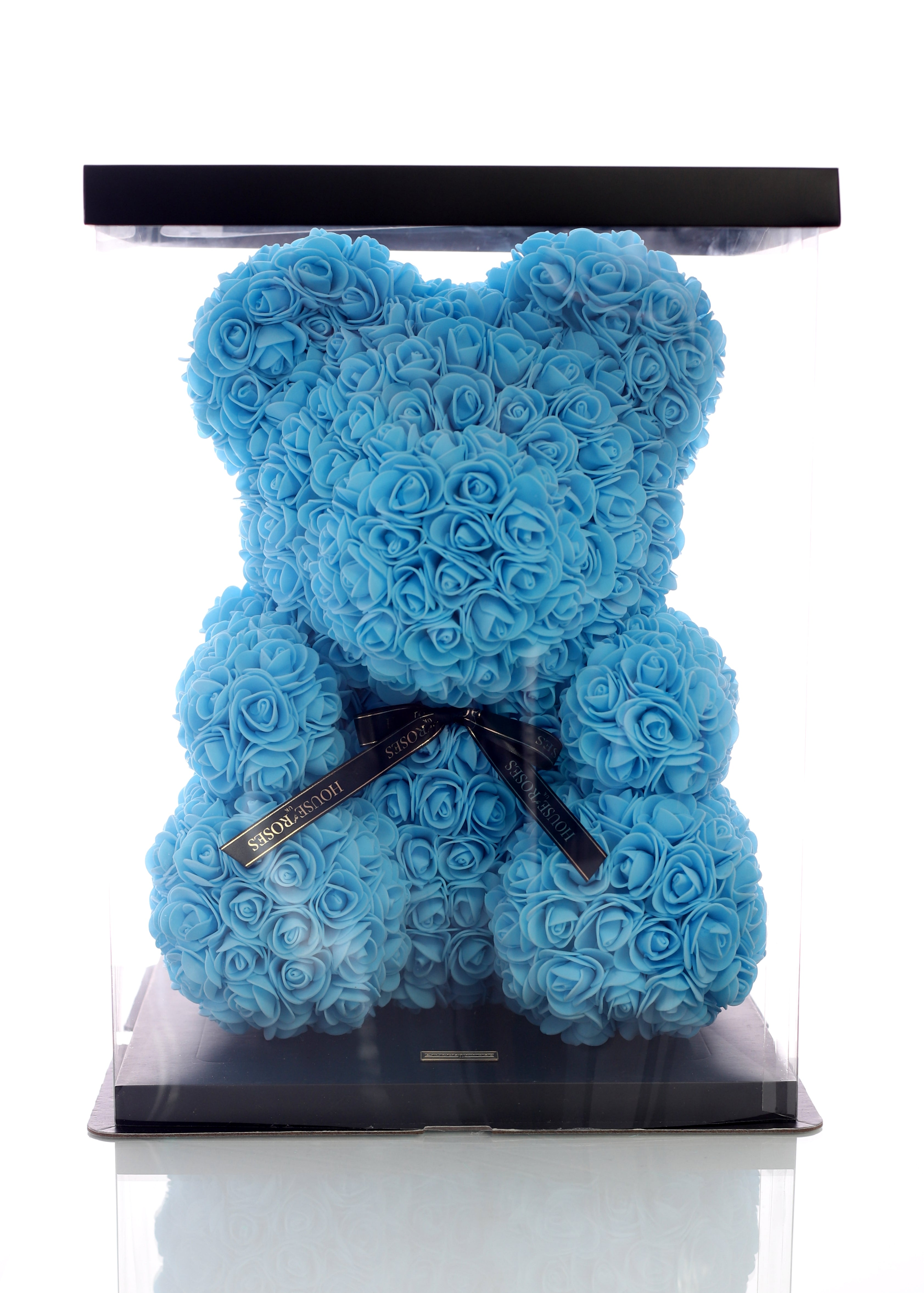 Blue Rose Bear (40cm)