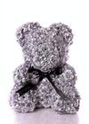 Exclusive Silver Rose Bear (40cm)