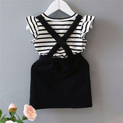 Striped Back Cross Dress