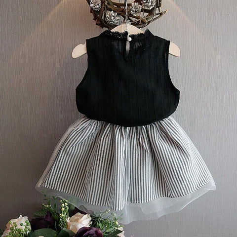 Fashion Style Solid Vest + Skirt