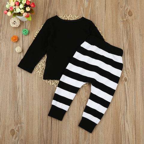 Halloween Top+Stripe Pants Outfit