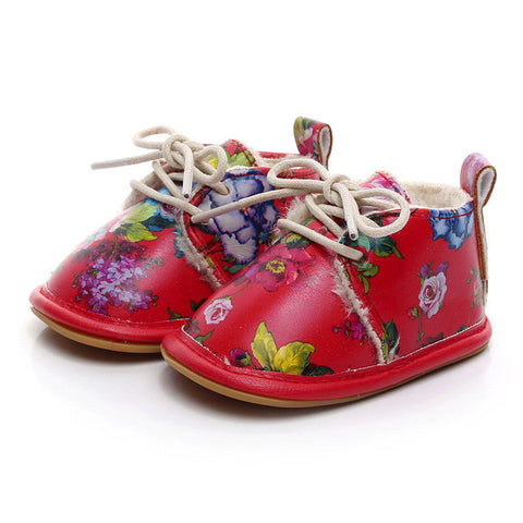 Floral Crib Shoes