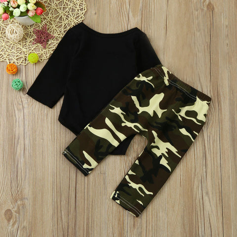 Camouflage Little Man Print Outfit
