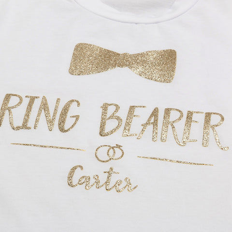 Casual Gold Letter T-shirt