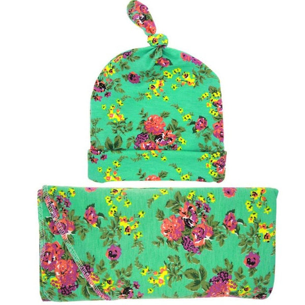 Floral Cotton Blanket With Hat