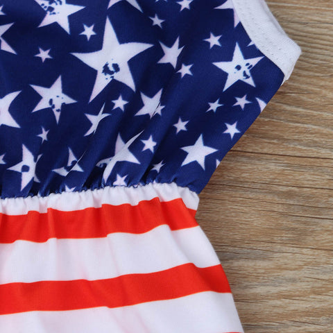 American Flag Pattern Jumpsuit