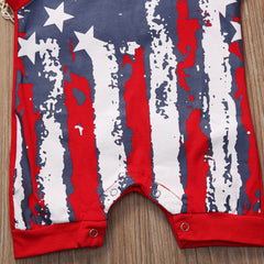 American Flag Sleeveless Jumpsuit