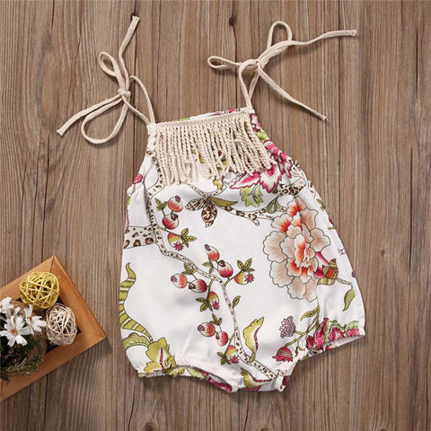 Fashion Floral Print Bodysuit