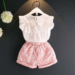 Spring Tops+Shorts Pants Set