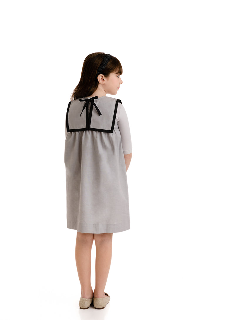 GREY SMOCKED DRESS