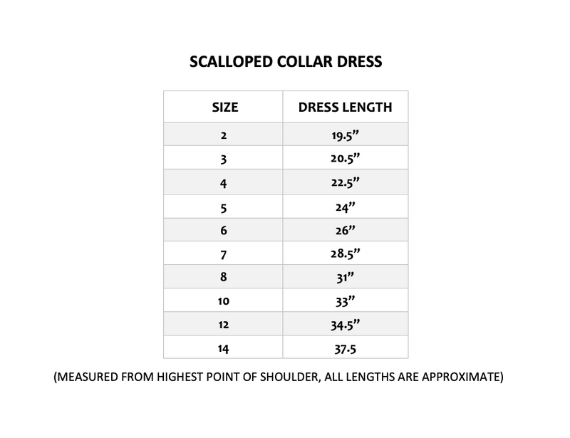 SCALLOPED COLLAR DRESS