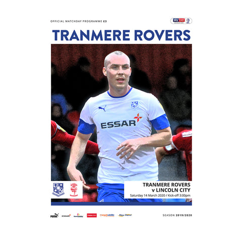 Tranmere Rovers vs Lincoln City 19/20 Programme
