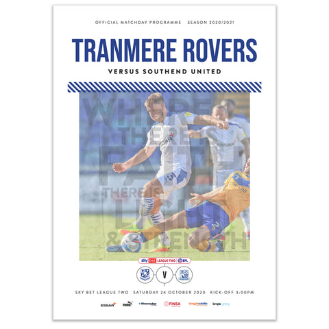 Tranmere Rovers v Southend United 2020/21 Programme