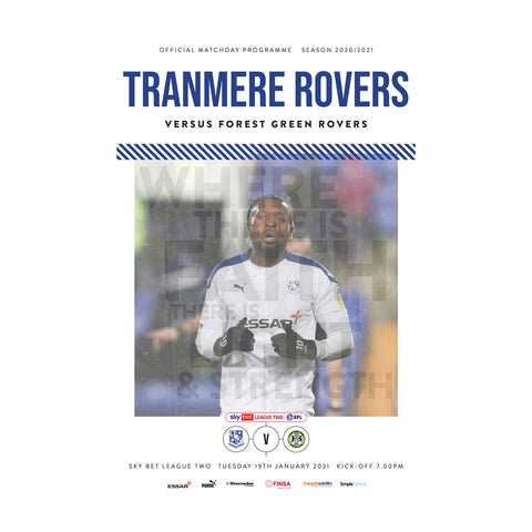 Tranmere Rovers vs Forest Green 2020/21 E-Programme