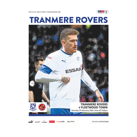 Tranmere Rovers vs Fleetwood Town 19/20 Programme