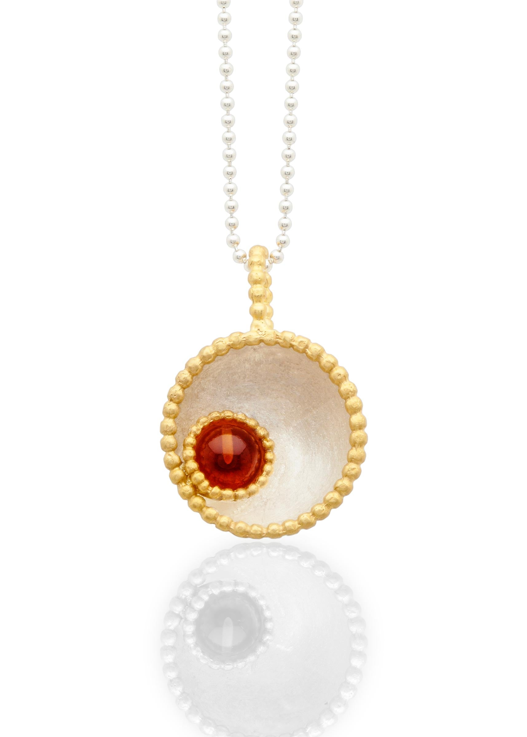 Byzantine dome pendant with cornelian