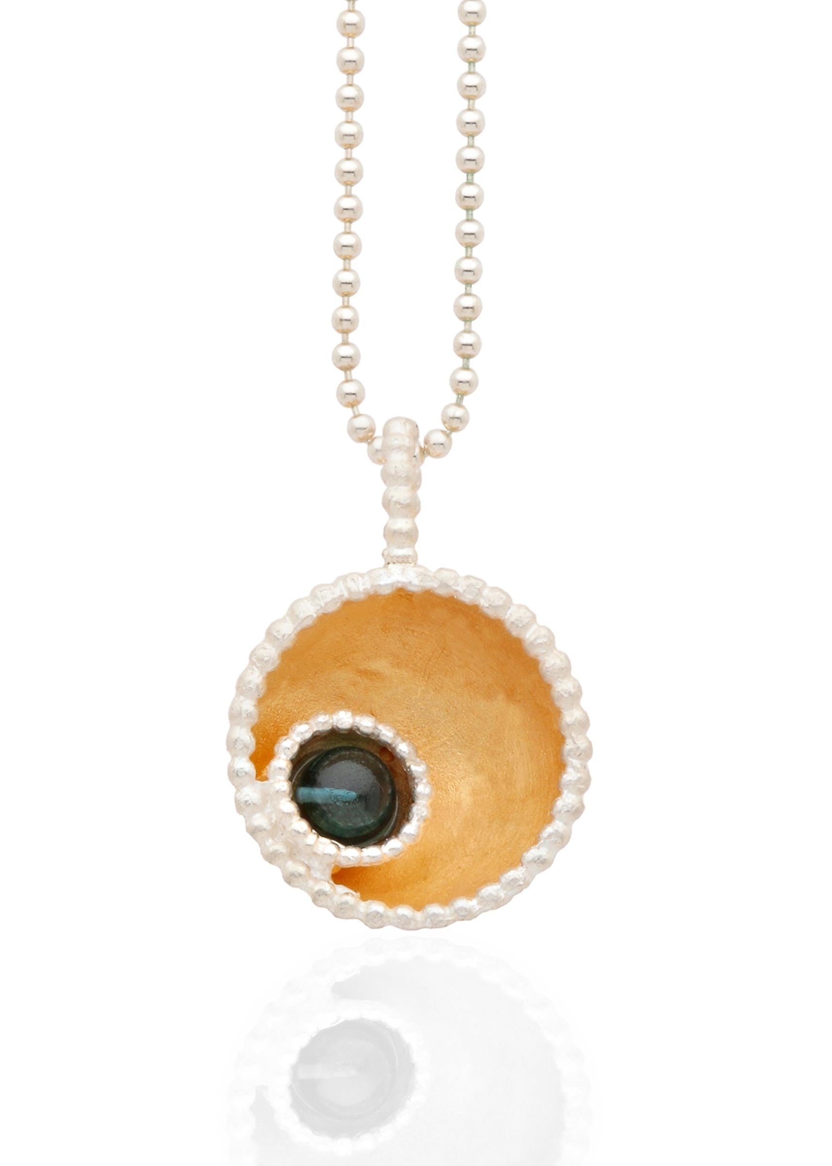 Byzantine dome pendant with smooth London blue stone