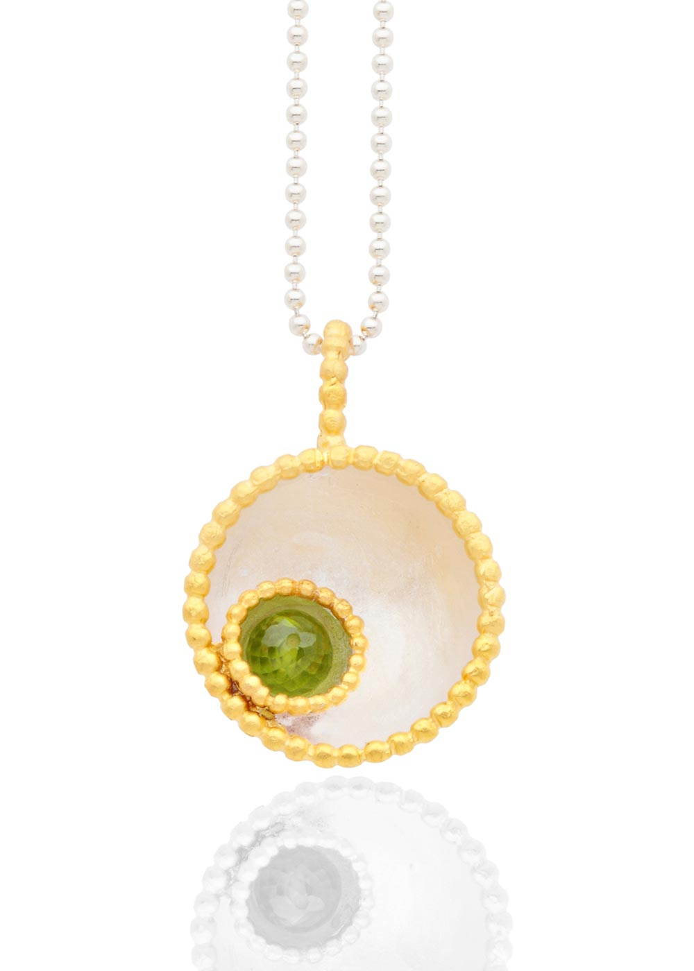 Byzantine dome pendant with peridot