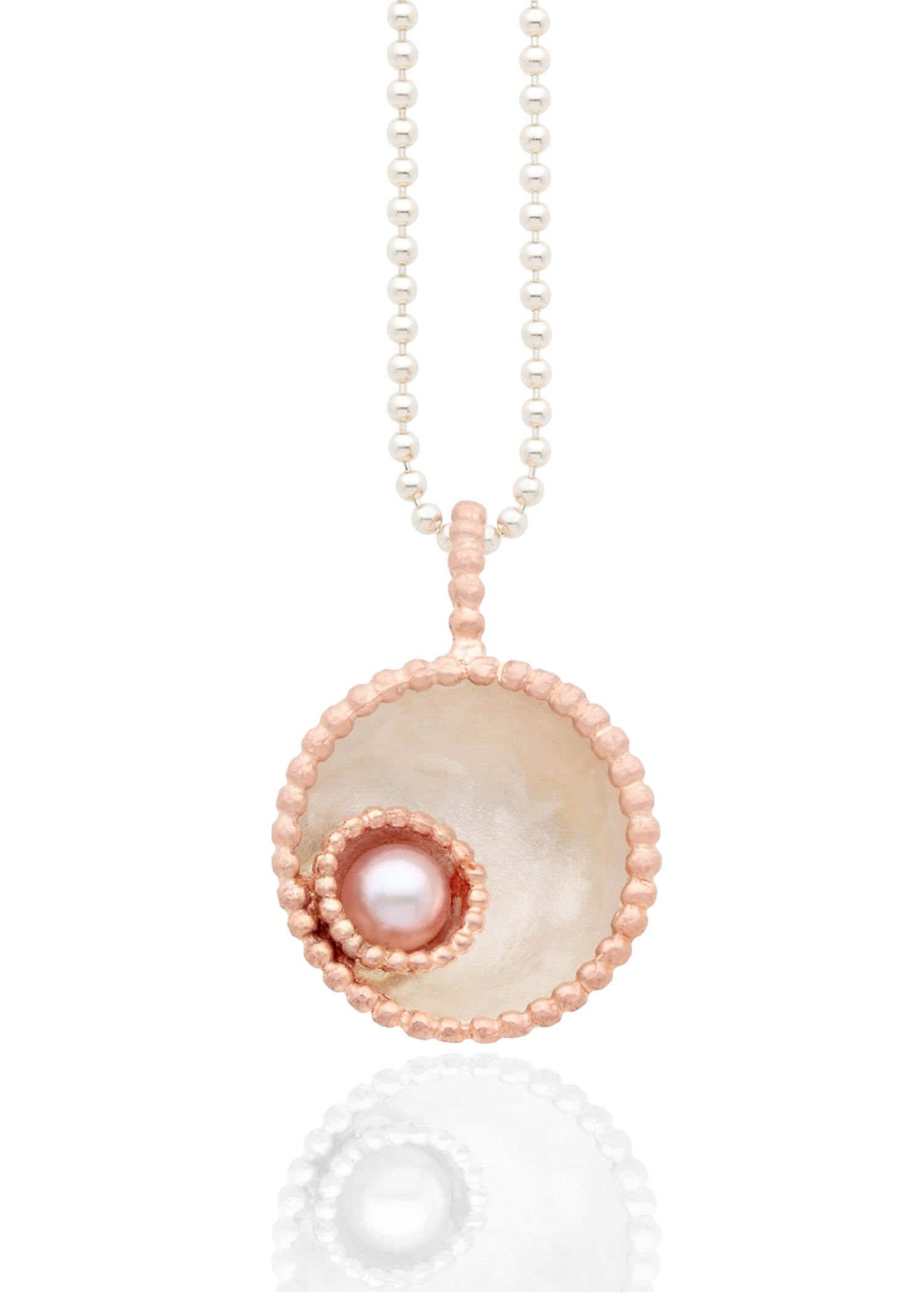 Byzantine dome pendant with pink pearl
