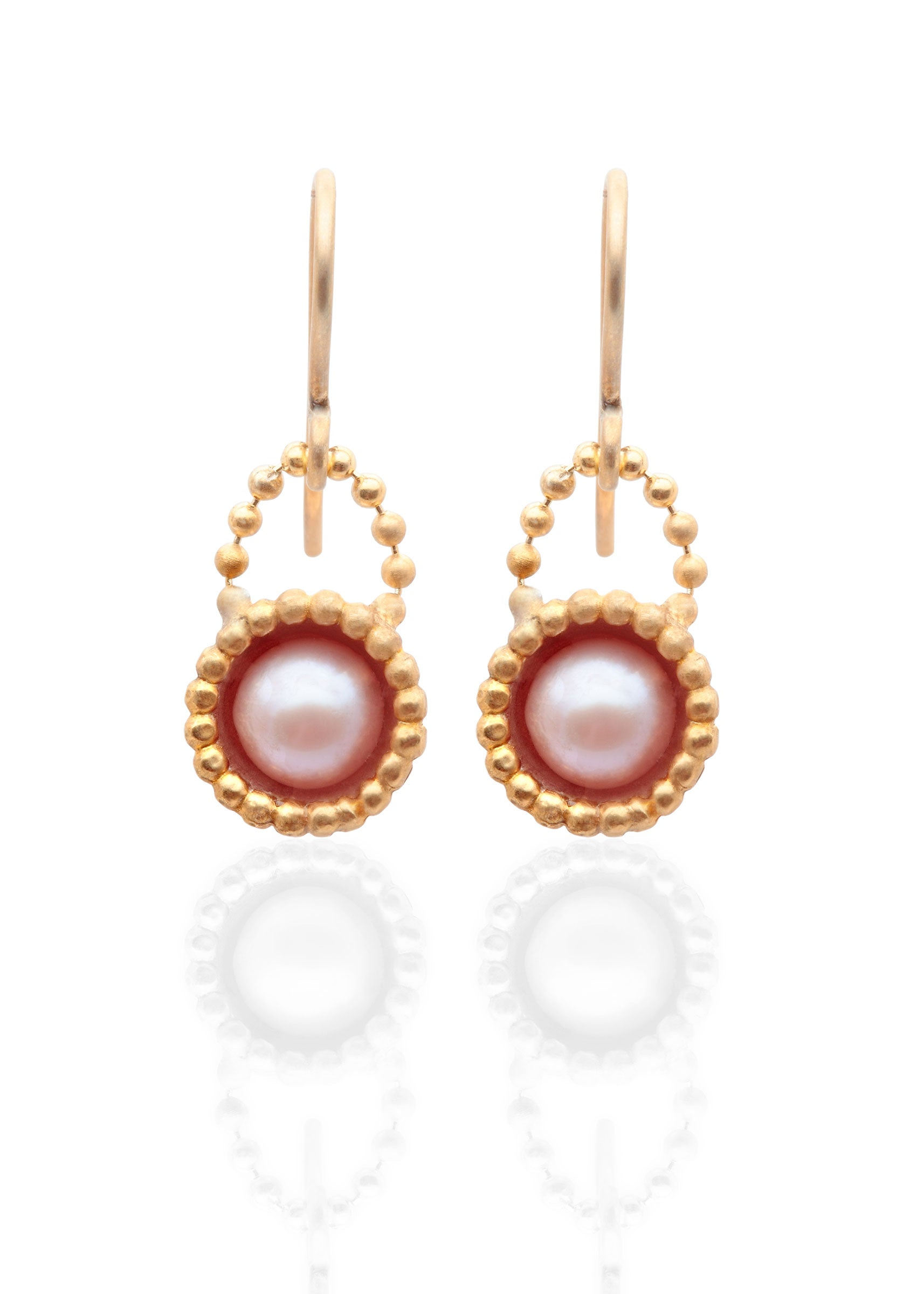 Byzantine dome freshwater pearl earrings