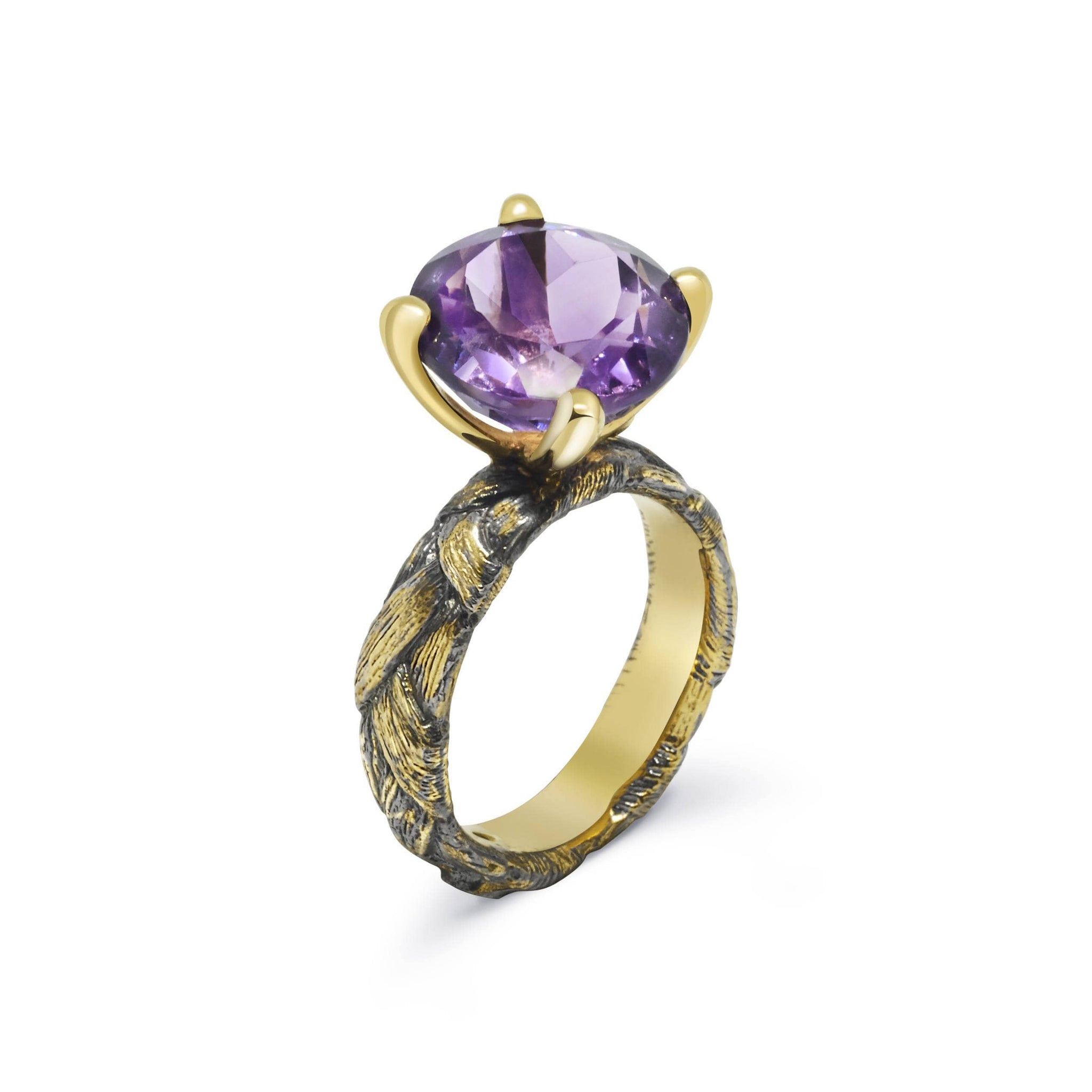 Ply Unique Ring with Amethyst - Rara Jewelry