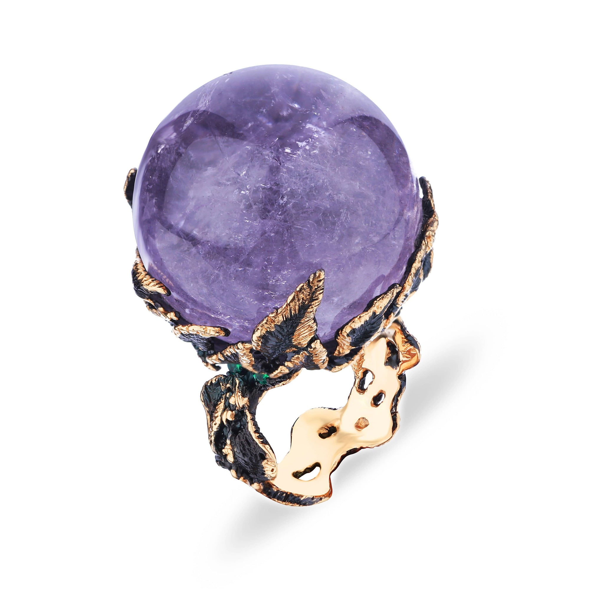 Magic Ring with Brazilian Amethyst