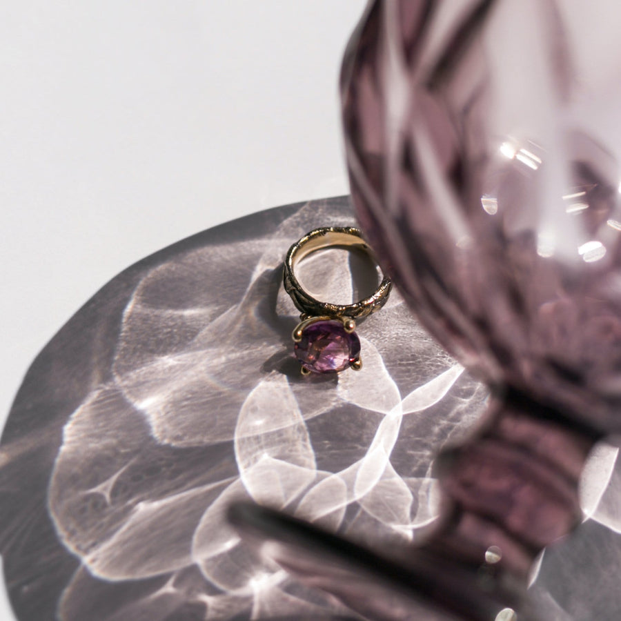 Ply Ring with Amethyst
