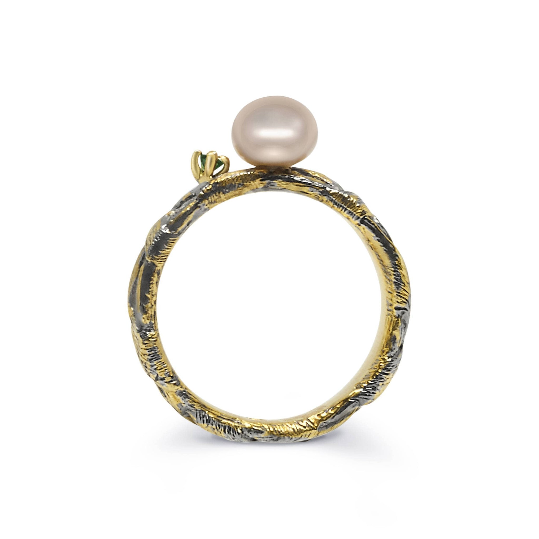 Ply Unique Ring with Pearl - Rara Jewelry
