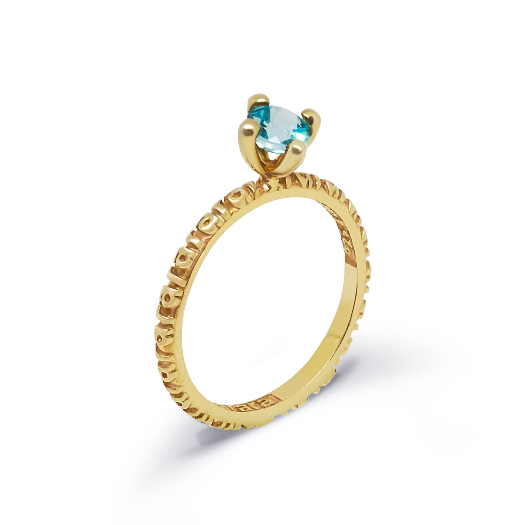 Gold Raraism Stacking Ring