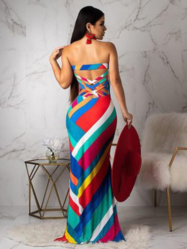 Off-the-shoulder Bodycon Sexy Maxi Dress