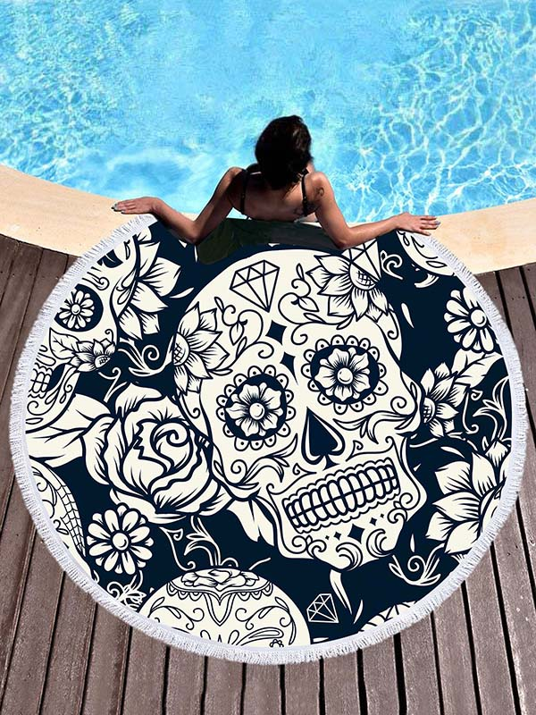Microfiber Skeleton Beach Towel