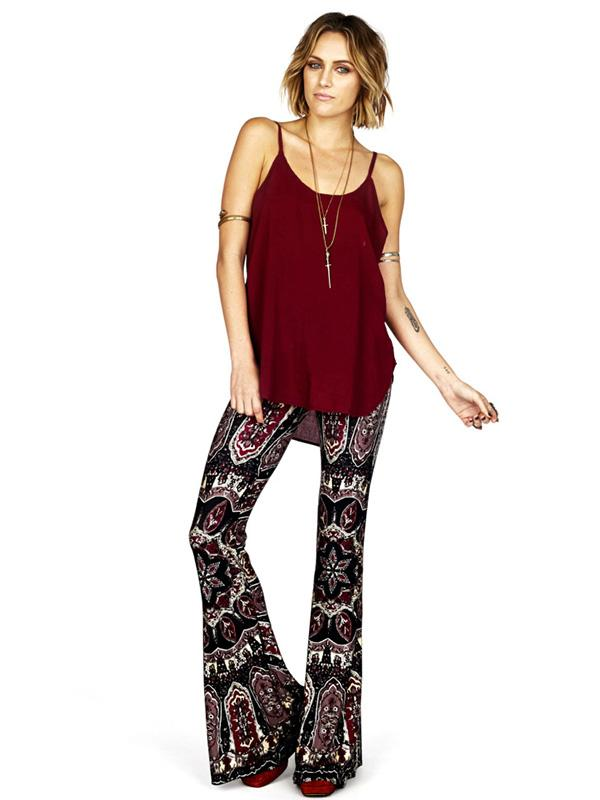 Fashion Printed Bell-bottoms Casual Pants