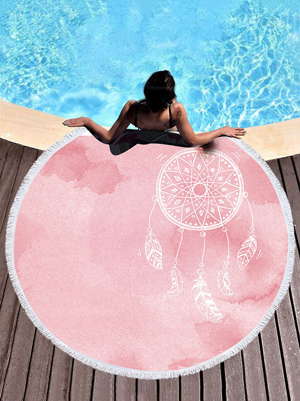 Pink Dreamcatcher Printed Beach Mats