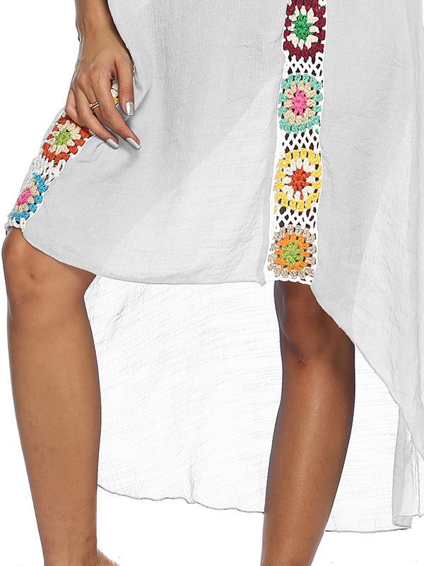 Hand Hook Stitching Print Cover-ups