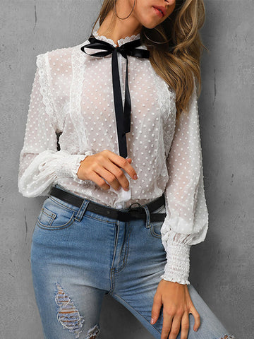 Fashion Lace T-shirts Tops