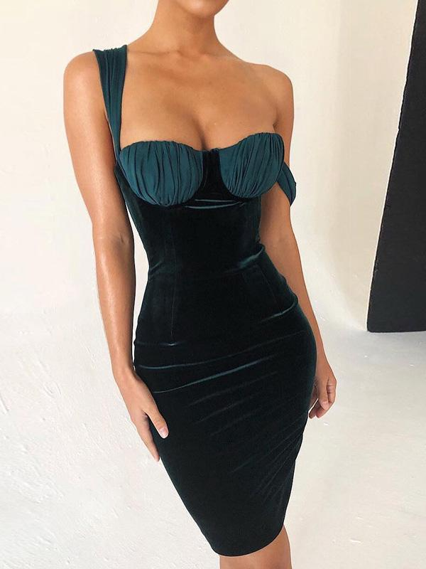 Green Bodycon Sexy Mini Dress
