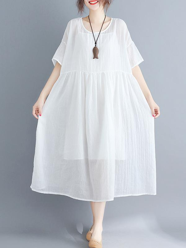 Two-pieces Loose Comfortable Blouse Dress