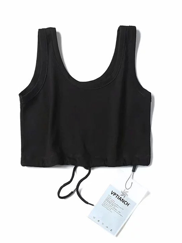 String Crop Sports Tanks
