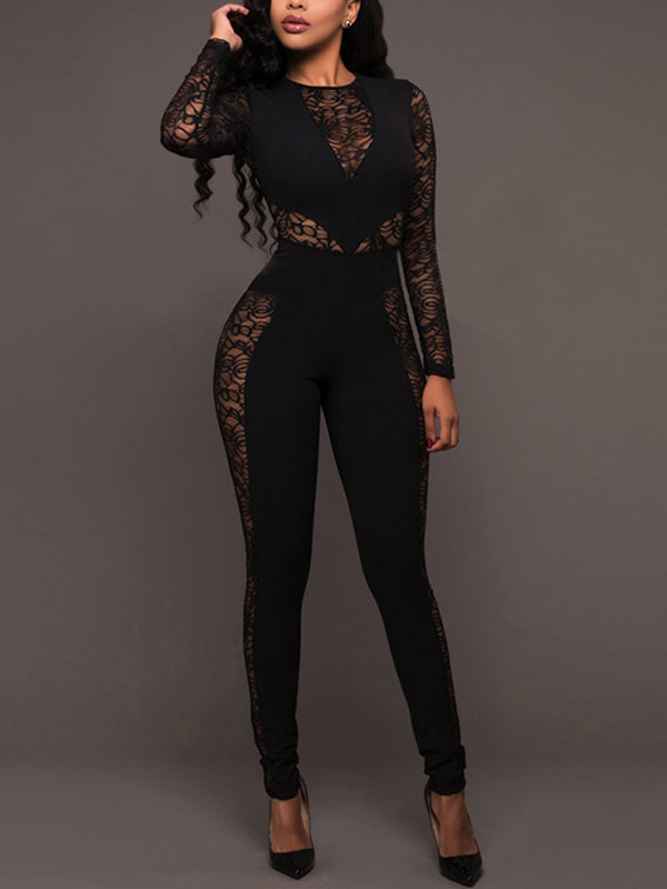 Sexy Lace Hollow Split-joint Jumpsuits
