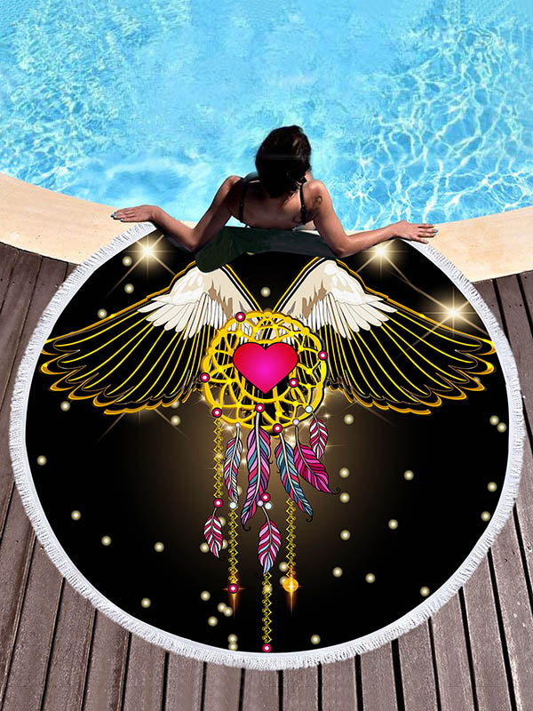 Flying Dream Catcher Printed Beach Mats