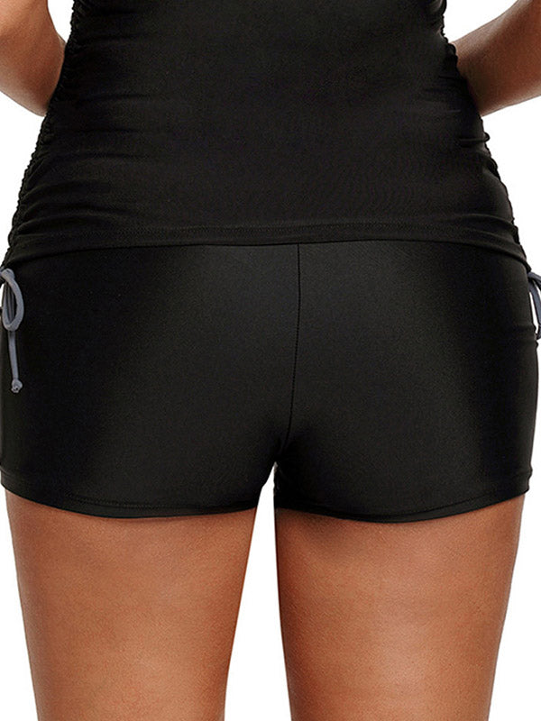 Solid Elasticity Wrap Sports Shorts