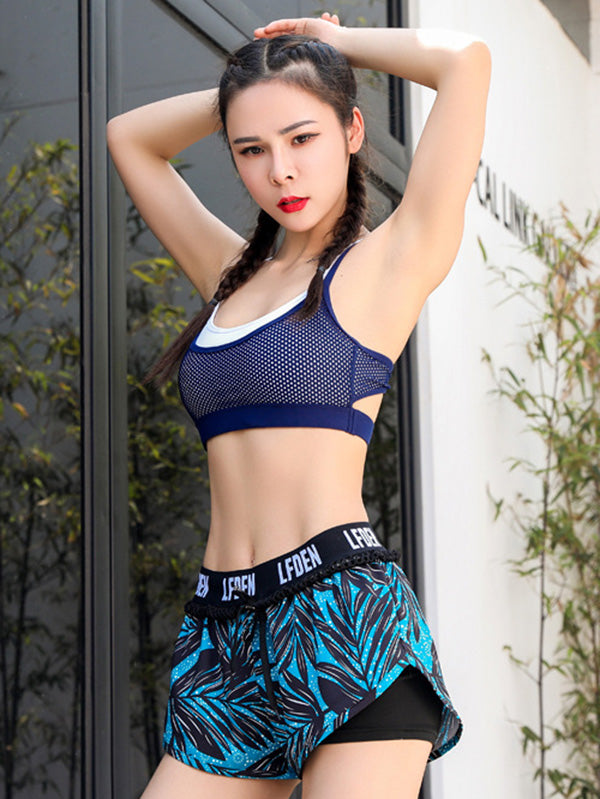 Perforated Mesh Sport Shorts