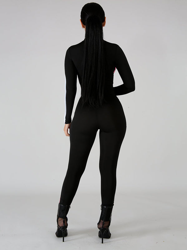 Sexy Solid Spaghetti-neck Jumpsuits