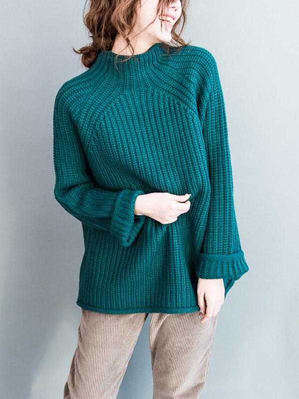 Comfortable Casual High collar Sweater